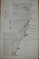 Geologische Karte Des Oberrheintalgraben-Randes Bei Bergzabern Von Henning Jllies Karlsruhe 1960 - 40cm X 60cm 1:25'000 - Karten