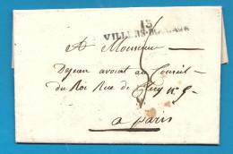 Calvados - Amayé-sur-Seulles - MP 13/VILLERS BOCAGE. 1822 - Marcophilie (Lettres)