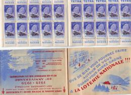 Carnet Contre LA TUBERCULOSE  1919.1939 Lot De 5 Pub Suchard Et Tetra  Tbe - Erinnophilie