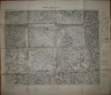 Koblenz Limburg A. D. Lahn - Einheitsblatt 108 - 72cm X 83cm 1:100'000 - Herausgeber Reichsamt Für Landesaufnahme 1931 - Karten