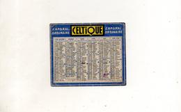 CALENDRIER PUBLICITAIRE CELTIQUE 1950 - Calendriers