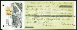 A4024) Dänemark Denmark Scheck Moneyorder 1908 Mit Fiscalmarke - Briefe U. Dokumente