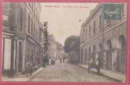 27 - RUGLES--Les Halles Et Rue Des Forges--animé - Francia