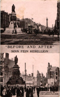 DUBLIN .. BEFORE AND AFTER  ... O CONNEL MONUMENT AND SACKVILLE STREET - Dublin