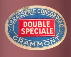 Etiket - Double Speciale Grammont - Brasserie Concordia - Cerveza