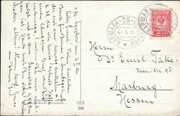 Russia Poland 1911 Pictured Postcard Warsaw-25-Sosnovitsy TPO To Marburg Germany (44_2557) - 1857-1916 Imperium
