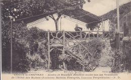 Cpa-02-coucy Le Chateau-personnage-jardin , Escalier Hotel Des Ruines-edi Emery - Andere Gemeenten