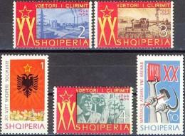 ALBANIA 1964, 20 Years Of SOCIALIST REVOLUTION In ALBANIA, COMPLETE, MNH SET, GOOD QUALITY, *** - Albania