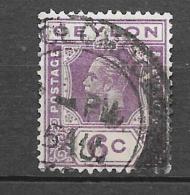 Timbre De Ceylan 6 C. (Voir Commentaires) - Ceylon (...-1947)