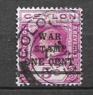 Timbres De 1912-13 Surchargés. N° 199 Chez Y Et T. (Voir Commentaires) - Ceylon (...-1947)