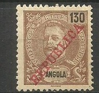ANGOLA YVERT NUM. 98 * NUEVO CON FIJASELLOS - Angola