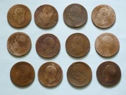LOT DE 24 PIECES  :  10 CENTESIMI  DATES VARIEES. - 1861-1946 : Kingdom