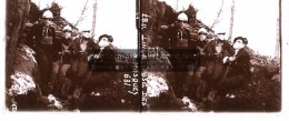 Photo Plaque De Verre / Vue Stéréo / WW1 Guerre 14-18 / Alsace - Le Linge - Lingekopf - Pose Des Masques à Gaz - Plaques De Verre