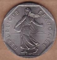 2 Francs 1993 Type SEMEUSE , Frappe Monnaie , Vème République - I. 2 Francs