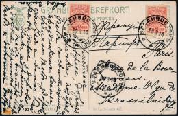 Russia 1914 Picture Card Vladivostok To Paris (44_2580) - Briefe U. Dokumente