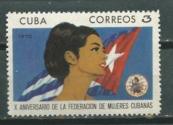 CUBA  Scott# 1546 ** MNH  Set Women`s Federation - Nuevos