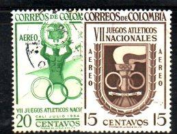 U133A - COLOMBIA , Posta Aerea N. 256/257 Usata - Venezuela