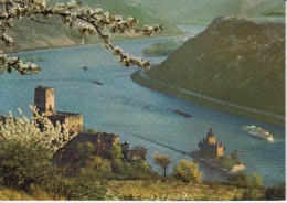 "Germany Kaub The Castle And The ""pfalz"" Ferryboat Ferry - Unused - It Was Stuck On Paper - Fähren"