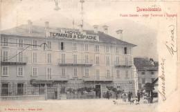 ITALIE - DOMODOSSOLA - Piazza Castello - Hôtel Terminus Et Espagne - Verbania