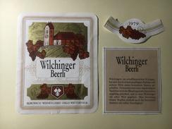 806 - Suisse Schaffhouse Wilcinger Beerli Schaffhauser  Blauburgunder - Etiketten