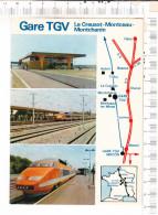 GARE  TGV  -  Le  Creusot - Monceau - Montchanin  -  Rame  TGV Le  27 Septembre 1981 - Le Creusot
