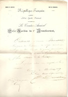 Manche - CHERBOURG - MARINE: Préfet Maritime Du 1er Arrondissement - Port - 1849 - Postmark Collection (Covers)