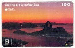 TE-BRESIL-Brazil-cartão Telefõnico-Sistema Telebras - 100 U - Essais - Brésil