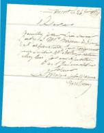 MARINE - Lettre Du Major De La Marine - LORIENT (Morbihan) - 1854 =- - Postmark Collection (Covers)