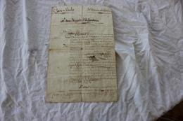 CERTIFICAT DE SERVICE AU REGIMENT DE CHASSEUR A CHEVAL EN L AN 9 - Documents