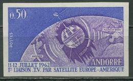 Andorra (frz.) Telstar Satellit 178 Postfrisch Ungezähnt ! Selten, Signiert - Nuevos