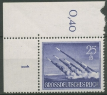 Deutsches Reich 1944 Tag Der Wehrmacht 884 Y Ecke Oben Links Postfrisch - Deutschland