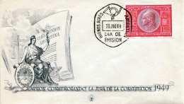 ARGENTINIEN 1949 - 1 P Sondermarke Auf Schmuckbrief Sonderstempel DIA DE EMISION - Argentinien