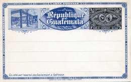 GUATEMALA 1897 - 3 Centavos Ganzsache Auf Lihographischer Postkarte Ungelaufen - Guatemala
