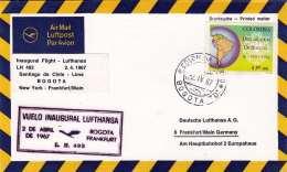COLOMBIA 1967 - 3 $ Auf FP-Brief Lufthansa BOGOTA - FRANKFURT - Kolumbien