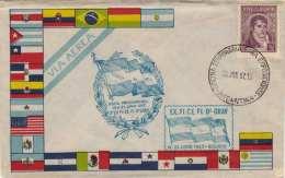 ARGENTINIEN 1957 - 1/2 C Sondermarke + 2 Sonderstempel Auf Schmuckbrief - Argentinien