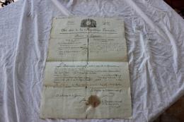 BREVET DE CAPITAINE DE L AN 6 SIGNE PAR LE PRESIDENT DU DIRECTOIRE EXECUTIF - Documents