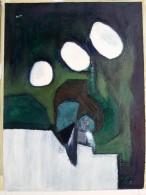 Jean ROUSSILLON (1923-2004) - Abstraction - Sur Papier - Monogrammé Face Et Signé Au Dos - Pastels