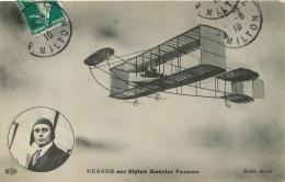 RENAUX SUR BIPLAN MAURICE FARMAN - Piloten