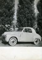 France Automobile Voiture Simca 6 Decapotable Ancienne Photo 1956