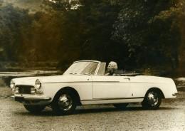 France Automobile Voiture Cabriolet Super Luxe 404 Peugeot Ancienne Photo 1966