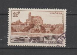 FRANCE / 1955 / Y&T N° 1019 : Limoges - Choisi - Cachet Rond - France
