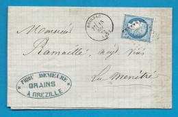 Maine Et Loire - GREZILLE Pour La MENITRE. GC + CàD Type 16 De BRISSAC - Marcophilie (Lettres)