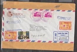 PANAMA-Registered-Express Letter From Panama To USA. - Panama