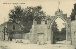 ARAMON  L'ENTREE DU CHATEAU - Aramon