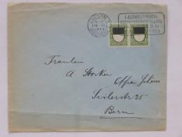 """SUISSE / SCHWEIZ / SWITZERLAND // Lettre - Brief,  2x10 Rp. PRO JUVENTUTE 1922, Flamme / Flaggenstempel """"KOCHKUNST"""" - Pro Juventute"""