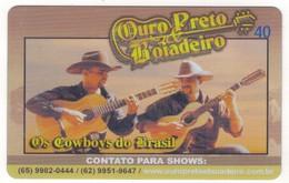 TE-BRESIL-Brazil-cartão Telefõnico-Telecom-40 U / Ouro Preto & Boiadeiro   2 Scans - Brésil