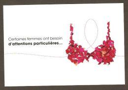 Fondation Québécoise Du Cancer - Quebec Cancer Foundation - Cancer Du Sein - Breast Cancer - Bra Made Of Red Rose Petals - Quebec