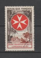 FRANCE / 1956 / Y&T N° 1062 : Ordre De Malte - Choisi - Cachet Rond - France