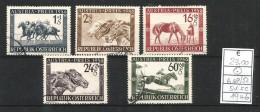 1946  AUSTRIA  Cavalli Horse Serie Completa  Usata - 1945-.... 2. Republik