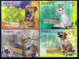 2014 China Macao Stamps Protect Animal Dog And Cat - 1999-... Chinese Admnistrative Region